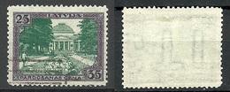 LETTLAND Latvia 1925 Libau Michel 109 A O Inverted WM - Letland