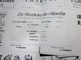 1947/48-LE BARBIER DE SÉVILLE -PROGRAMME OPÉRA De LYON-SPECTACLE-PHOTOS ARTISTES COMÉDIENS -ACTEURS-DANSE-PUBLICITÉ - Programmes