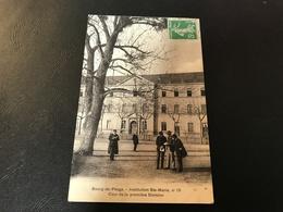 BOURG DE PEAGE Institution Ste Marie, N°15 Cour De La Premiere Division - 1913 Timbrée - France