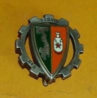 516° Régiment Du Train, Relief, Fixation épingle, Vert Foncé,FABRICANT FRAISSE PARIS ,HOMOLOGATION 2507, ETAT VOIR PHOTO - Esercito