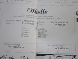 1947/48- OTHELLO -PROGRAMME OPÉRA De LYON-SPECTACLE-PHOTOS ARTISTES COMÉDIENS -ACTEURS-DANSE-PUBLICITÉ - Programmes