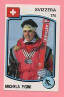 Figurina Panini 1988 N°174 - Svizzera, Michela Figini - Sport Invernali