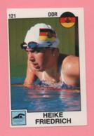 Figurina Panini 1988 N°121 - Nuoto - Heike Friedrich - Swimming