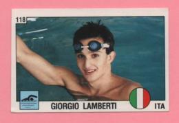 Figurina Panini 1988 N°118 - Nuoto - Giorgio Lamberti - Natación