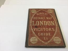 Reynolds Colored Distanc MAP LONDON AND VISITORS GUIDE En L état - Books, Magazines, Comics