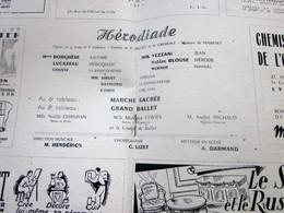 1947/48-HERODIADE-MARCHE SACRÉE BAL-PROGRAMME OPÉRA De LYON-SPECTACLE-PHOTOS ARTISTES COMÉDIENS -ACTEURS-DANSE-PUBLICITÉ - Programmes
