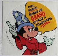 Mickey Autocollant Vintage Walt Disney Publicité Appareil Photo Kodak Photographe - Autocollants