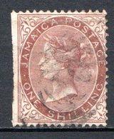 JAMAIQUE - (Colonie Britannique) - 1860-63 - N° 6 - 1 S. Marron - (Victoria - Jamaica (...-1961)
