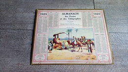 Calendrier 1929 Seine Et Oise Almanach Des Postes Puits Dans Le Zibam Désert Chameau - Calendriers