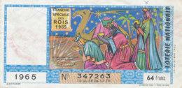 BL 168 / BILLET  LOTERIE NATIONALE   TRANCHE   DES ROIS     1965 - Billets De Loterie