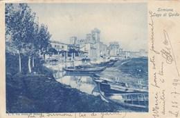 SIRMIONE-BRESCIA-LAGO DI GARDA-BELLA IMMAGINE FINE 800-CARTOLINA VIAGGIATA IL 25-7-1898 - Brescia