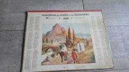 Calendrier 1939 Sarthe Almanach Des Postes Au Maroc Nemecek - Calendars