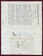 """PARIS  (1844) :  LETTRE CIRCULAIRE PUBLICITAIRE  """" VIARD, 34 Rue Saint-Martin """"  Peinture - France"""
