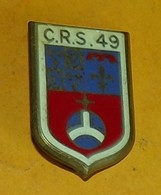 C.R.S. 49, MONTELIMAR, émail, Dos Guilloché, Embouti, FABRICANT DRAGO PARIS,HOMOLOGATION SANS, ETAT VOIR PHOTO  . POUR T - Police & Gendarmerie
