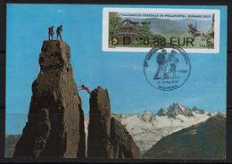 Atm, Nabanco, Lettre Verte DD 0.88€, Théatre Du Peuple, Escalade, 67éme A.G. Philapostel, Bussang 2019. - 2010-... Illustrated Franking Labels