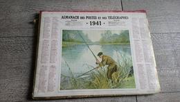 Calendrier 1941 Eure Et Loire Almanach Des Postes Pêcheur De Brochet - Big : 1941-60