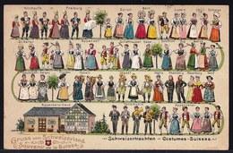 COSTUMES DE SUISSE - SCHWEIZERTRACHTEN - EMBOSSED CARD - CARTE GAUFREE - GRUSS VON - SOUVENIR DE - Costumes