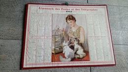 Calendrier 1942 Indre Et Loire Almanach Des Postes L'amie Des Bêtes Nemecek Chat Oiseau - Big : 1941-60