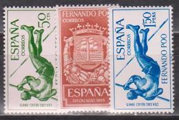 Fernando Po, Coat Of Arms, Sport, 1965, 3 Stamps - Fernando Poo