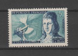 """FRANCE / 1955 / Y&T N° 1012 ** : """"Inventeurs"""" (Philippe Le Bon) - Gomme D'origine Intacte - France"""