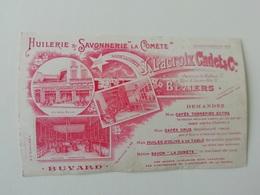 Buvard Publicitaire Ancien Huilerie & Savonnerie La Comète, Béziers J.Lacroix - Shoes