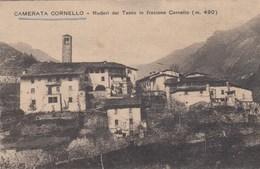 CAMERATA CORNELLO-BERGAMO-RUDERI DEL TASSO IN FRAZIONE CORNELLO-CARTOLINA NON  VIAGGIATA ANNO 1920-1930 - Bergamo