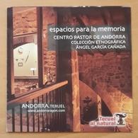 FOLLETO CENTRO PASTOR DE ANDORRA - TERUEL - ESPAÑA. - Folletos Turísticos