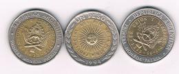 3 X 1 PESO ARGENTINIE /4244/ - Argentina