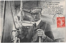 Le Comte LAMBERT Sur Wright - De Port Aviation - Tour Eiffel - Juvisy - Aviadores