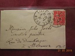 Carte De Visite De Fives-Lille Avec Enveloppe Timbrée - Cartes De Visite