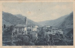 CAMERATA CORNELLO-BERGAMO-RUDERI DEL TASSO I-CARTOLINA VIAGGIATA IL 29-12-1937 - Bergamo