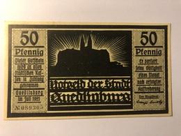 Allemagne Notgeld Quedlinburg 50 Pfennig - Collections