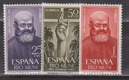 Rio Muni, 1963, Christianity, 3 Stamps - Riu Muni
