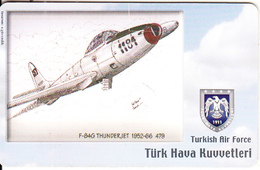 TURKEY(chip) - Airplane, RF-84G Thunderjet 1952-66 479(50 Units), Used - Airplanes