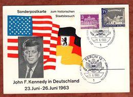 Karte, Mauerstrasse + Brandenburger Tor, Besuch Kennedy Berlin 1963 (74015) - [5] Berlin