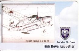 TURKEY(chip) - Airplane, Invader B-26B/C 1948-60 45(50 Units), Used - Airplanes
