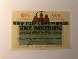 Allemagne Notgeld Ratzeburg 25 Pfennig - Collections