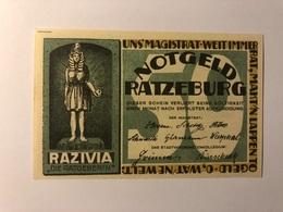 Allemagne Notgeld Ratzeburg 50 Pfennig - Collections