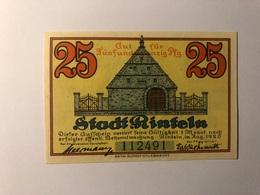 Allemagne Notgeld Rinteln 25 Pfennig - Collections