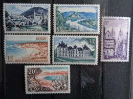 1954 - CERES N° 976 à 981 ** - Sites Et Monuments - France