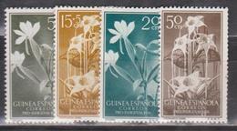 Guinea Spanish Flowers, 1956, 4 Stamps - Guinea Spagnola
