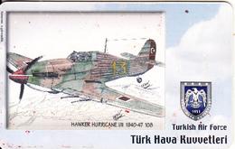 TURKEY(chip) - Airplane, Hawker Hurricane I/II 1940-47 108(50 Units), Used - Airplanes