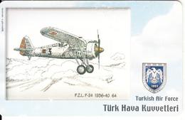 TURKEY(chip) - Airplane, PZL P-24 1936-40 64(100 Units), Used - Airplanes
