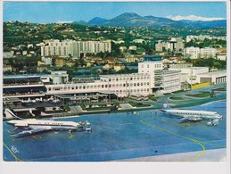 Vintage Rppc Air France Caravelle, KLM Vickers Viscount @ Nice Airport - 1919-1938: Between Wars