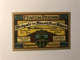 Allemagne Notgeld Rosen 50 Pfennig - Collections