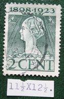 Regeringsjubileumzegel 2 Ct NVPH 121H 121 H (Mi 123) 1923 Gestempeld / USED NEDERLAND / NIEDERLANDE - Period 1891-1948 (Wilhelmina)