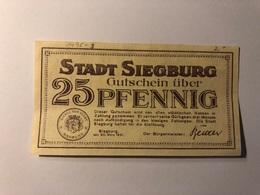 Allemagne Notgeld Siegburg 25 Pfennig - Collections