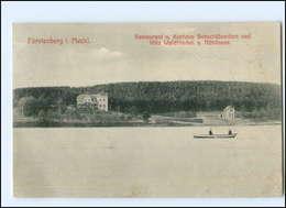 U6838-167/ Fürstenberg I. Meckl. Kurhaus Seeschlößchen AK 1909 - Germany