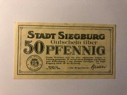 Allemagne Notgeld Siegburg 50 Pfennig - Collections