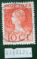 Regeringsjubileumzegel 10 Ct NVPH 124H 124 H (Mi 126) 1923 Gestempeld / USED NEDERLAND / NIEDERLANDE - Used Stamps
